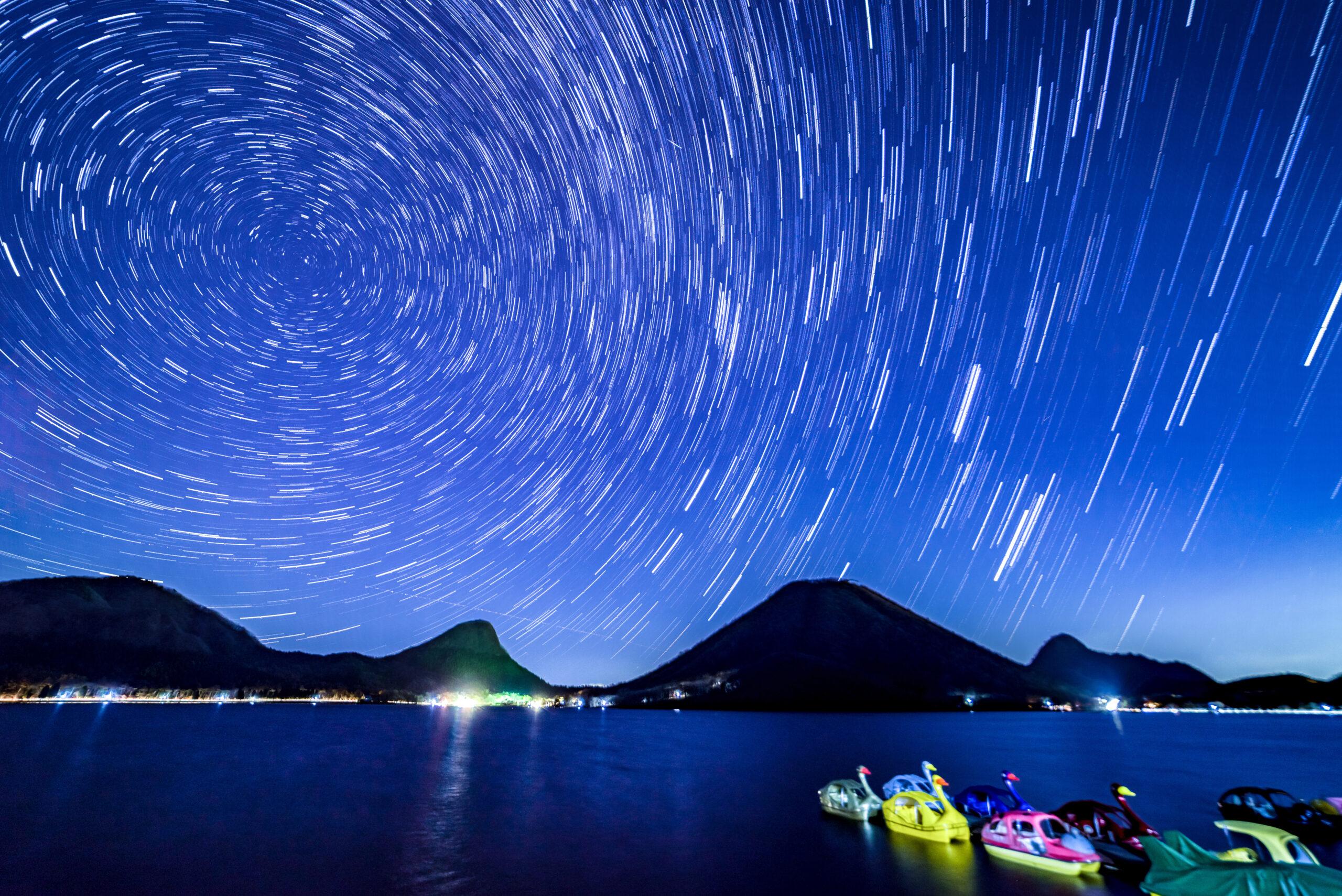 高崎市榛名湖畔の星景写真